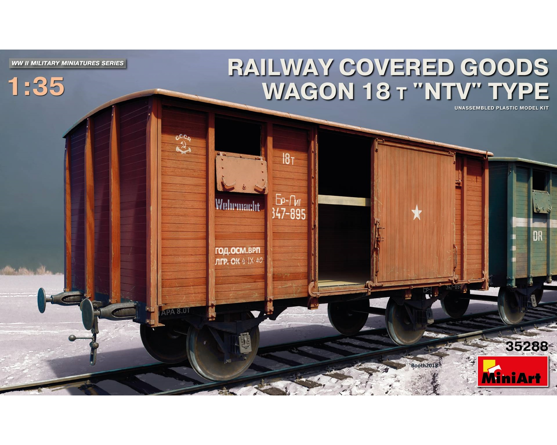 RAILWAY COVERED GOODS WAGON 18 T NTV