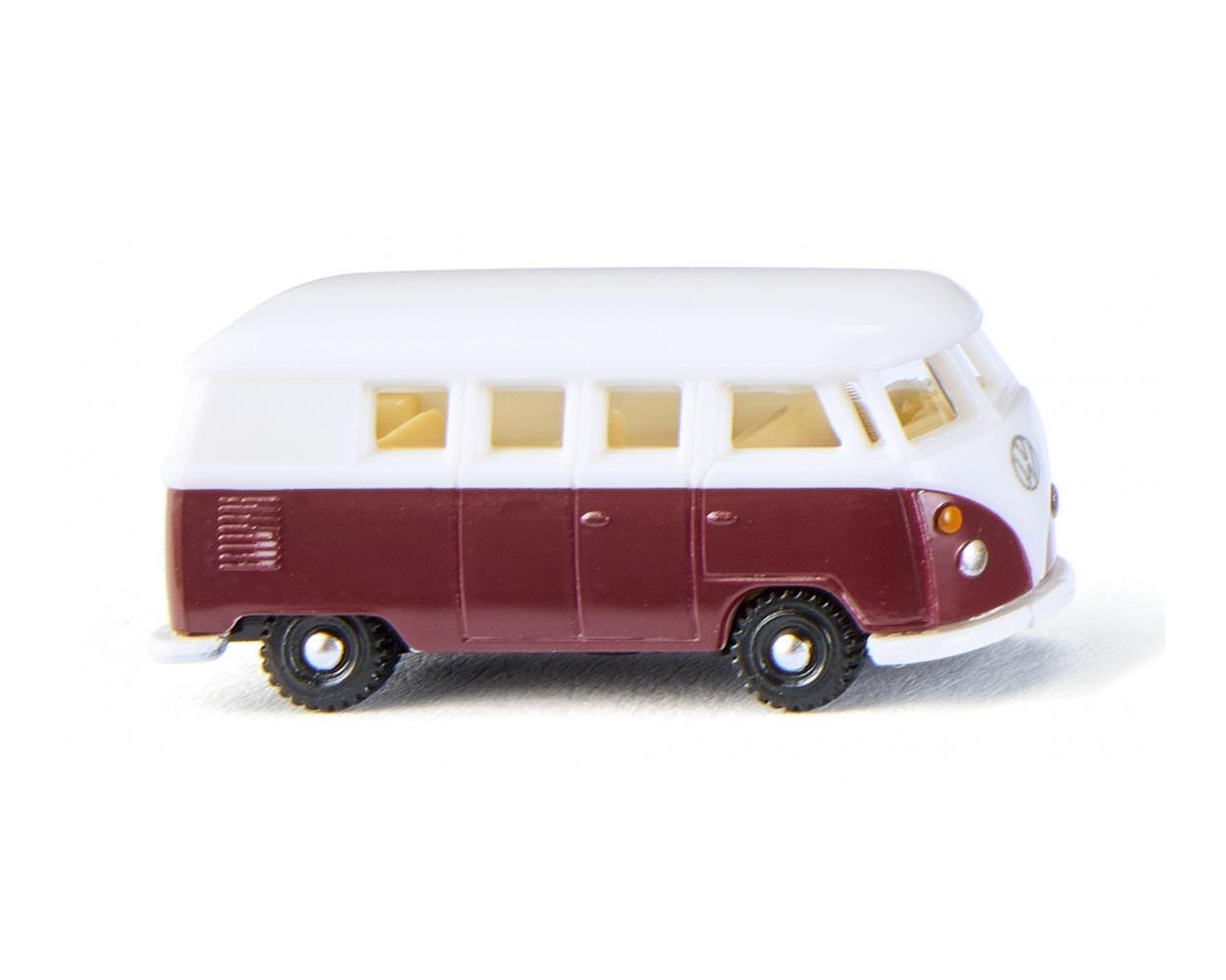 VW T1 Bus Wijnrood/wit